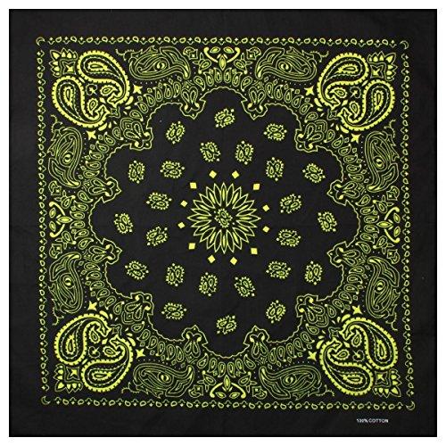 bandana-bandane-con-exclusivem-paisley-pattern-in-puro-cotone-nero-giallo-taglia-unica