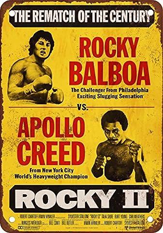 1979 Rocky Balboa vs. Apollo Creed, Reproduktion, Vintage-Look, Metall