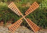 Flügel aus Holz für Windmühle, imprägniert, 100 cm Spannweite