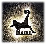 Fussball Fußball Geschenke für Männer Fußballtrainer Fußballer Junge Holz Lampe Schild mit Namen personalisiert