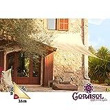 Corasol COR10RA36-SB Premium Sonnensegel 3,6 x 3,6 x 5 m, 90 Grad Dreieck, sandbeige - 2