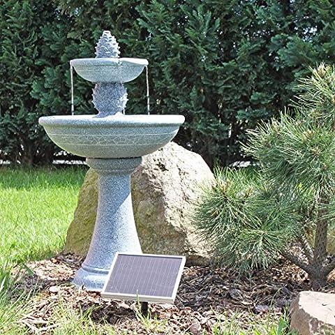 Solar Springbrunnen Kaktus NSP6 - Standbrunnen für Balkon Terrasse Garten Brunnen mit Solar Pumpe