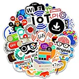 GoodFaith Programmiersprache Sticker Aufkleber Internet HTML Software Aufkleber für Geek Hacker Entwickler für DIY Laptop Telefon Auto Fahrrad Motorrad 50 Pcs