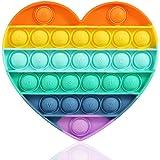 لعبة فقاعات ضغط حسية على شكل من فيدجيت بالوان قوس قزح