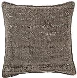 McAlister Textiles Essentials Kollektion | Strukturierter Chenille Kissenbezug groß | 50cm x 50cm in Silbergrau | Deko Kissenhülle für Sofa, Couch, Sessel mit metallischem Glanz