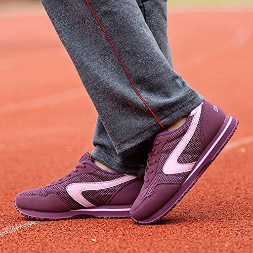 Chaussure de sport basket homme femme adulte mixte pantoufle vieux respirant sneakers Violet