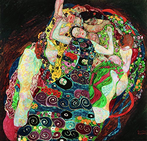 la-jeune-fille-par-gustav-klimt-100-peint-a-la-main-lhuile-sur-toile-reproduction-de-grande-qualite-