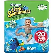 Huggies Little Swimmers - Bañadores desechables, talla 3-4 (7-15 kg