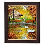 #5: TIED RIBBONS® On the Waters Canvas Painting with Frame Large (26 inch X 22 inch,Multicolor)