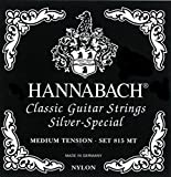 Hannabach 652597 - Juego de cuerdas para guitarra clásica de plata (tensión media)