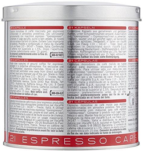 illy Kaffee, Iperespresso Kaffeekapseln Classico, klassische Röstung - 1 Dose mit 21 Espresso-Kaffeekapseln