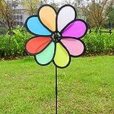 ECMQS 8 verlässt bunte Windmühle Spielzeug, Kinder Garten Dekoration Verzierung, bunte draußen Spinner