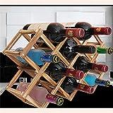 Alcoa Prime Solid Wood Folding Wine Rack...