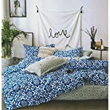 Radha Rani Blue Color Zurich Polyester Double Bedsheet with Two Pillow Cover