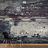 murando - Fototapete selbstklebend 343x256 cm - decor Tapeten - Wandtapete klebend - Klebefolie - Dekofolie - Tapetenfolie - Ziegel Ziegelstein f-A-0503-a-c