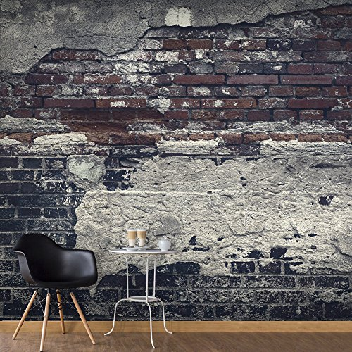 murando - Vlies Fototapete 400x280 cm - Vlies Tapete - Moderne Wanddeko - Design Tapete - Ziegel Ziegelstein f-A-0503-a-c