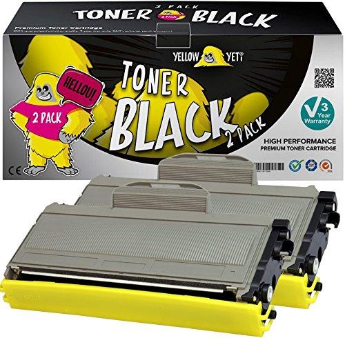 Yellow Yeti TN2120 TN2110 (2600 pagine) 2 Toner compatibili per Brother HL-2140 HL-2150 HL-2170 MFC-7320 MFC-7340 MFC-7440 MFC-7840 DCP-7030 DCP-7040 DCP-7045 [3 Anni di Garanzia]