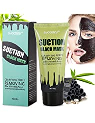 Point Noir Masque, Black Head Masque, Peel off Masque, Blackhead Remover Masque, Masque antidérapant nettoyage en profondeur, Noir Masque, Blackhead Mask, BUOCEANS® Deep Cleansing Peel Off acné Noir Masque, Bambou Charcoal Deep Cleansing Acne Black Masque Visage, Blackhead anti-points noirs Beauté Soin de la peau Masque, 60g