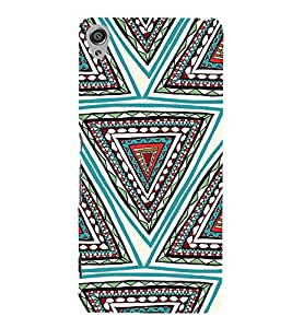Fiobs Designer Back Case Cover for Sony Xperia XA :: Sony Xperia XA Dual (Triangles Pyramid Colorful Patterns )