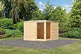 Unbekannt Karibu Gartenhaus Cubus Eck 2 naturbelassen 28 mm