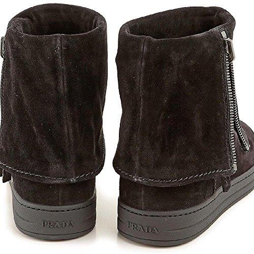 6639N stivaletto PRADA SPORT nero stivali donna boots women Nero