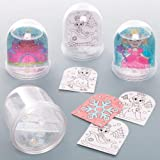 Baker Ross AT168 Princess Colour in Snow Globe Kits, Arts and Crafts for Kids (Box of 4), Assorted