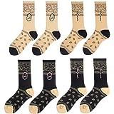 TTD 4 confezioni Calze Street Fashion Calze in cotone tubolare Travis Scott per uomo e donna, calze da skateboard