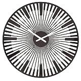 Koziol Piano, Horloge Murale, Montre, Mouvement à Quartz, Décoration, Noir, 2340526