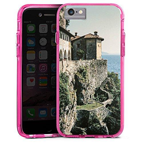 Apple iPhone 6s Bumper Hülle Bumper Case Glitzer Hülle Festung Mer Ocean Bumper Case transparent pink