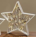 Stern Carry beleuchtet Holz 37 cm zum Stellen (832040) Weihnachtsdeko