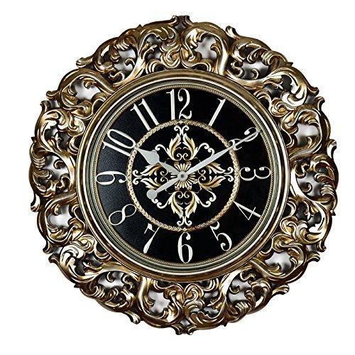 NHGY Europäische Grosses Wohnzimmer Wanduhr Armbanduhr die Uhr Kreative Retro Metall Solar Uhr Clocke