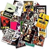 GYYNR 25pcs Adesivi Film Classici per Bagagli Laptop Art Pittura Fiction Poster Adesivi Giocattolo Skateboard Impermeabile