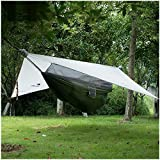 NatureHike 1 person Hammock With Bed Net Camping Hanging Tent Waterproof Awning (Grey)