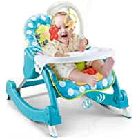 Baby Bucket Newborn 3 in 1 Toddler Rocker Cum Reclining Chair | Fiddle Diddle Baby Bouncer Cum Rocker with Soothing…
