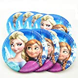 #6: Frozen Print Plates/Print Paper Round/Round Disposable Plates for Theme/Birthday Parties(Pack of 10)