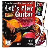 Let's Play Guitar Band 1 mit 2 CDs, DVD und Musik-Schubert Plektrum-Card- Songbook und Gitarrenschule : Gitarre spielen lernen mit 40 Gitarrenklassikern - Verlag Hage - EH3757 9783866261587