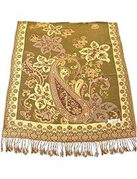 Azad Patrón de Diseño Chal Pashmina Bufanda Wrap Estola Tirar CJ Apparel NUEVO