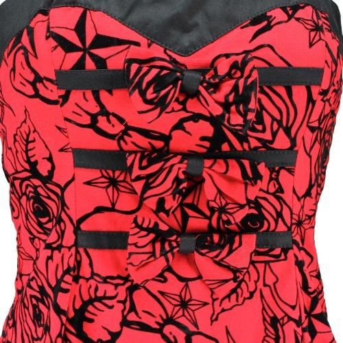 H&R London -  Vestito  - Donna rouge-noir