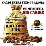 Kakaobohnen, ungeröstet - Venezuela Kakao Herkunft Rio Caribe | Cacao Venezuela Delta - Edelkakao 100% aus Venezuela - Premium-Qualität | Jutesäcken 1kg