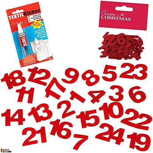 Numeri Per Calendario Avvento.German Trendseller Calendario Dell Avvento 24 Numeri
