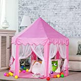 DeceStar Niedliche rosa Prinzessin Castle Kids Indoor Playhouse