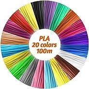IDRAWING IDRAWING High Precision 1.75mm PLA Filament Eco friendly Material 3D Pen Filament Refills 20 Colors (Total 328FT))