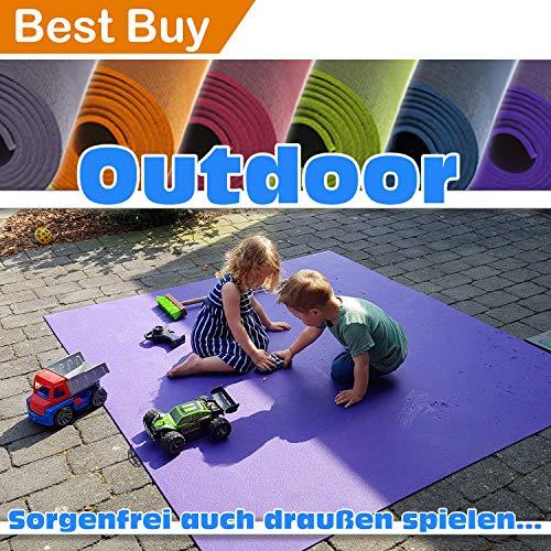 "Outdoor Krabbelmatte Krabbelunterlage SanoSoft\""made in Germany\"" - Öko-Tex 100 240x240 cm Lila"