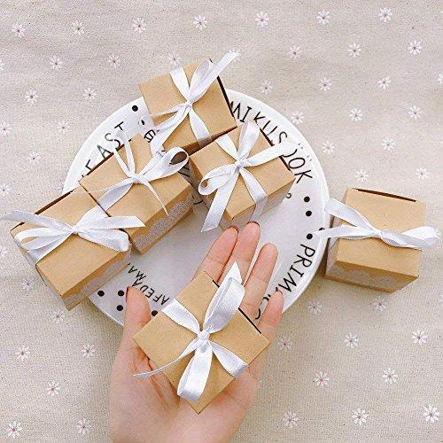 Geschenkbox aus Kraftpapier + Spitze - 3