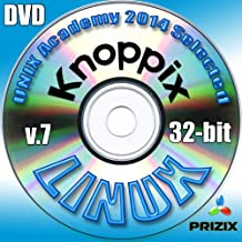 Knoppix 7 Linux DVD 32-bit Full Installation Includes Complimentary UNIX Academy Evaluation Exam