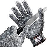 [Schnittschutzhandschuhe] FREETOO Hochleistung Schnittschutz Handschuhe Leicht 5 Handschutz Ebene, lebensmittelecht schnittfeste Handschuhe M