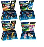 C3 Computer Consultants Lego Dimensions The LEGO Movie Themed Bundle - Emmet 71212, Bad Cop 71213, Benny 71214, and UniKitty 71231