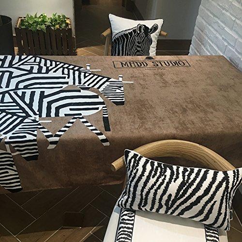 Zebra gedruckt schwarz und weiß Kamel Tischdecke rechteckige Couchtisch Abdeckung Handtuch , 140*230cm piece of cloth , miss print wallpaper