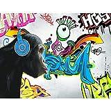 Fototapeten Graffiti Affe 352 x 250 cm Vlies Wand Tapete Wohnzimmer Schlafzimmer Büro Flur Dekoration Wandbilder XXL Moderne Wanddeko - 100% MADE IN GERMANY - Runa Tapeten 9169011c
