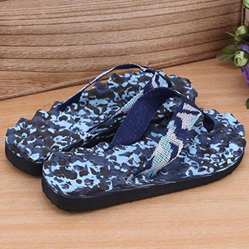 Reasoncool Uomini Donne Estate camuffamento Infradito Scarpe sandali Slipper indoor e outdoor B